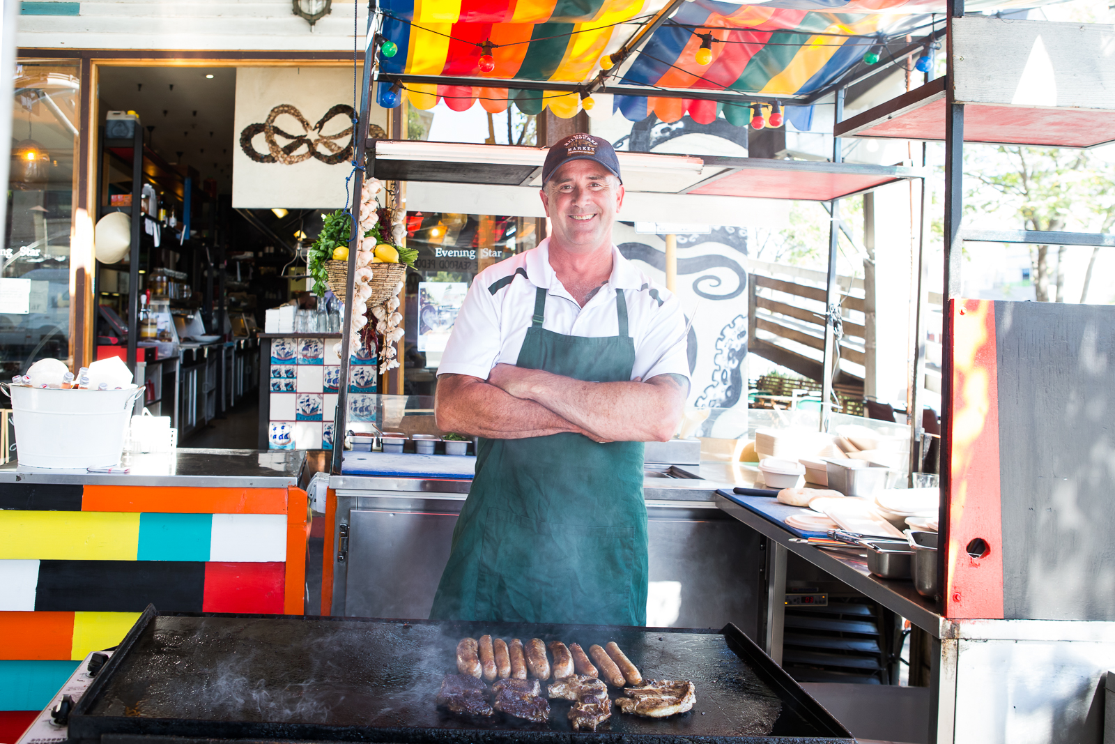 Barry House from Kirkpatricks Meats is one of the marketers who will be cooking up a storm during the Big BBQ Street Party on Saturday 6 May