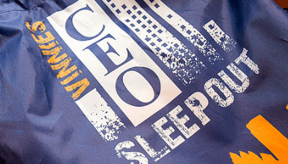 Helping the homeless with the 2016 Vinnies CEO Sleepout