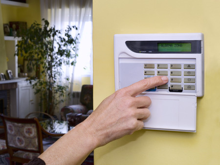 Home security alarm system keypad
